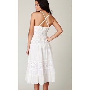 NWT | FREE PEOPLE Lace White Midi Dress